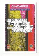 2 EMZS JOURNEES LIVRE ANCIEN ET BIBLIOPHILIE D'AUVERGNE à CHAMALIERES PUY DE DOME 2013 - Demonstrationen