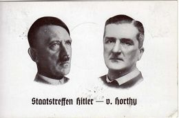 Drittes Reich 1938 Sonderkarte, Staatstreffen Hitler - Horthy, Mit SST [100317KIV] - Lettres & Documents