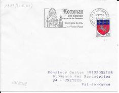 FINISTERE 29  - LOCRONAN  -  FLAMME N° 1817  - VOIR DESCRIPTION  -  1967 - Postmark Collection (Covers)