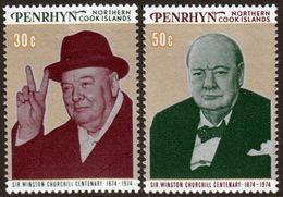 PENRHYN - 1974 - Churchill - 2 Val Neufs // Mnh - Penrhyn