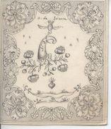 Image Pieuse Gravée Sur Parchemin XVIIIe Don De Science - Santini