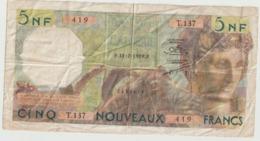 Billet De 5 Francs Algérie Du 31 07 1959 Ref Musynski 56a , Plusieurs Plis Et Trous Et Decirure - Algeria