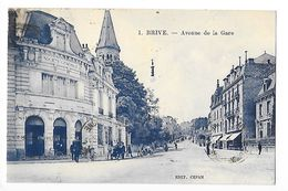 BRIVE  (cpa 19)  Avenue De La Gare -   - L 1 - Brive La Gaillarde