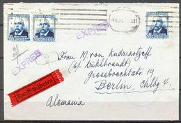 1932 , MADRID - BERLIN , SOBRE COMERCIAL DEL PALACE HOTEL , LLEGADA AL DORSO. - 1931-50 Brieven