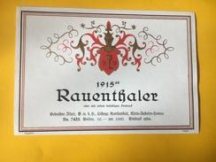 5606 -  1915 Rauenthaler Modèle D'imprimerie Voir Description - Etiquettes