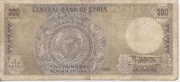 Billet De 500 Livres Syriennes, 1990 - Syrie