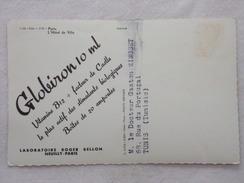 """Carte Postale Avec Publicité - GLOBIRON Par Les Laboratoires """"Roger BELLON""""  - CPA - CP - Carte Postale - France"""