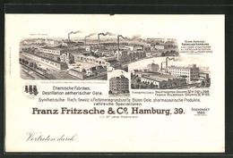 AK Hamburg-Billbrook, Chemische Fabriken Franz Fritzsche & Co., Kontorhaus Mühlenkamp - Mitte
