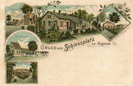 CPA - HAGUENAU (67) - Carte Lithographique De 1898 Du Schiessplatz - Restaurant - Casernes - Poste De Garde - Haguenau
