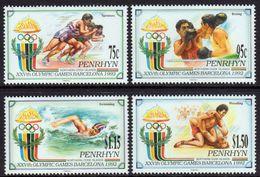 PENRHYN 1992 - J.O. Barcelona 92, Boxe, Natation, Lute - 4 Val Neufs // Mnh // CV 12 Euros - Penrhyn