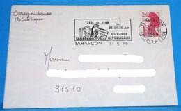 Bicentenaire De La Révolution 1789 1989 Tarascon 13 Bouches Du Rhône  La Garde Républicaine - Marcophilie (Lettres)