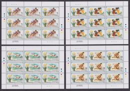 PENRHYN 1992 - J.O. Barcelona 92, Boxe, Natation, Lute - 4 Feuillets Neufs // Mnh // CV 108 Euros - Penrhyn