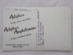 """Carte Postale Avec Publicité - ACTIPHOS Par Les Laboratoires """"Roger BELLON""""  - CPA - CP - Carte Postale - France"""