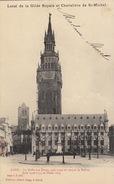 Gand Menu Local De La Gilde Royale Chevalière De Saint Michel Halle Aux Draps Beffroi 1903 - Menus