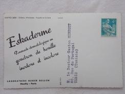 """Carte Postale Avec Publicité - ESKADERME Par Les Laboratoires """"Roger BELLON""""  - CPA - CP - Carte Postale - France"""
