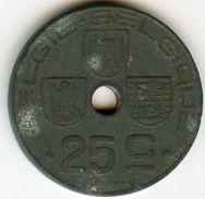 Belgique Belgium 25 Centimes 1945 Belgie-Belgique KM 132 - 1934-1945: Leopoldo III