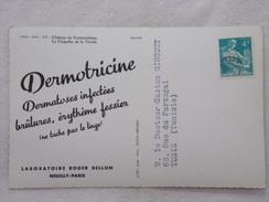 """Carte Postale Avec Publicité - DERMOTRICINE Par Les Laboratoires """"Roger BELLON""""  - CPA - CP - Carte Postale - France"""