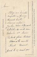 Gand Menu Local De La Gilde Royale Chevalière De Saint Michel  1911 Sur Carte Exposition De 1913 ??? - Menus