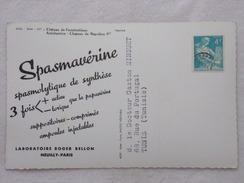 """Carte Postale Avec Publicité - SPASMAVÉRINE Par Les Laboratoires """"Roger BELLON""""  - CPA - CP - Carte Postale - France"""