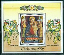 PENRHYN 1992 - Noël, Vierge Avec Enfant - BF Neufs // Mnh // CV 12 Euros - Penrhyn