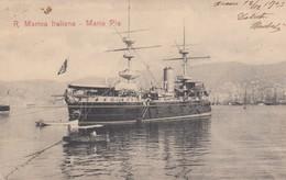 "8833-REGIA MARINA ITALIANA - PIROFREGATA CORAZZATA ""MARIA PIA"" - 1903-FP - Warships"