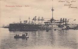 """8834-REGIA MARINA ITALIANA - CORAZZATA """"ITALIA"""" - 1903-FP - Guerra"""
