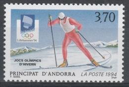 Andorra (French Adm.), 1994 Winter Olympics, Lillehammer, Norway, MNH VF - Andorra Francesa