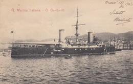 "8835-REGIA MARINA ITALIANA - INCROCIATORE ""GIUSEPPE GARIBALDI"" - 1903-FP - Warships"