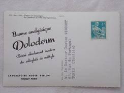 """Carte Postale Avec Publicité - DOLODERM Par Les Laboratoires """"Roger BELLON""""  - CPA - CP - France"""
