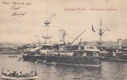 """8839-REGIA MARINA ITALIANA - PRE-DREADNOUGHT """"ANDREA DORIA"""" - 1903-FP - Guerra"""