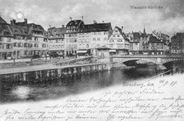 CPA - STRASBOURG (67) - Aspect Du Quartier Du Pont Et De La Rue De La Tour Blanche En 1898 - Strasbourg