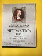 5626 -   Chianti Classico 1983 Pietrantica Italie - Etiketten
