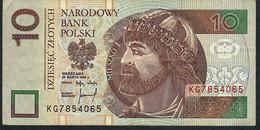 POLAND P173b 10 ZLOTYCH 1994  VF NO P.h. ! - Polen