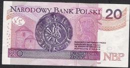 POLAND P184a 20 ZLOTYCH 2012 Signature 16  VF NO P.h. ! - Pologne