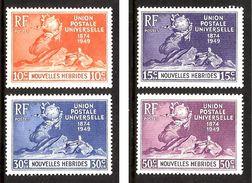 NOUVELLES HEBRIDES 1949 UPU N° 136 à 139 * * Neufs Lot - 2138 - UPU (Union Postale Universelle)