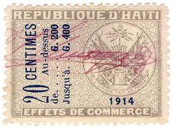 (I.B) Haiti Revenue : Commercial Duty 20c - Haiti