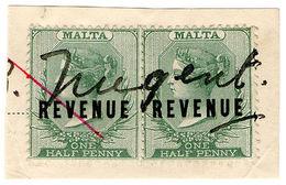 (I.B) Malta Revenue : Duty Stamp ½d - Malta (...-1964)