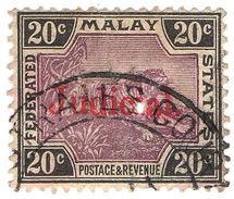(I.B) Federated Malaya States Revenue : Judicial 20c - Great Britain (former Colonies & Protectorates)