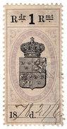(I.B) Sweden Revenue : Duty Stamp 1R - Unclassified