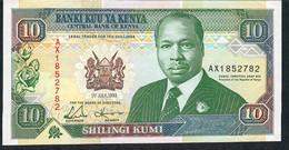 KENYA P24e 10 SHILLINGS 1.7.1993   AU - Kenia