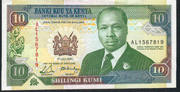 KENYA P24b 10 SHILLINGS 1.7.1990   XF - Kenia