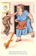 HUMOUR COMIQUE BELGE / STRIP BELGISCHE HUMOR (original Vintage) Spécimen De Langue Vivante ... - CPA Illustration - Humor