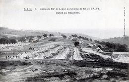 Camp Du 80e De Ligne Au Camp De Tir De Brive - Défilé Du Régiment - 4P42b - Brive La Gaillarde
