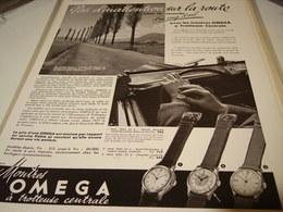 ANCIENNE PUBLICITE TROTTEUSE CENTRALE   MONTRE OMEGA 1939 - Bijoux & Horlogerie
