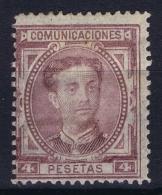 Spain: Ed 181 Mi Nr 163  MH/* Flz/ Charniere  No Thin, Some Gum Missing - 1875-1882 Reino: Alfonso XII