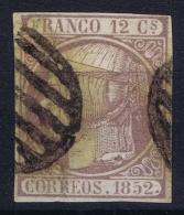 Spain: Ed 13 Mi Nr 13 Obl./Gestempelt/used   1852 - 1850-68 Reino: Isabel II