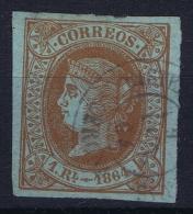 Spain: Ed 67 Mi Nr 59 Obl./Gestempelt/used   1864 - 1850-68 Reino: Isabel II