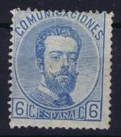 Spain: Ed 119 Mi Nr 112  MH/* Flz/ Charniere   1872  Has A Thin - 1872-73 Reino: Amadeo I