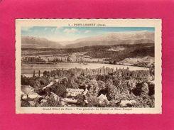 39 Jura, Port-Lesney, Grand Hôtel Du Parc, Vue Générale Et Mont Poupet, 1926, (C. Lardier) - Andere Gemeenten