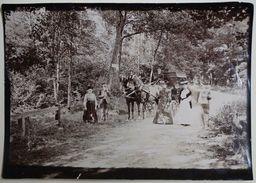 Promenade En Forêt Autour De TROYES ? Photo Vers 1890, Chevaux, Attelage, élégantes - Lieux